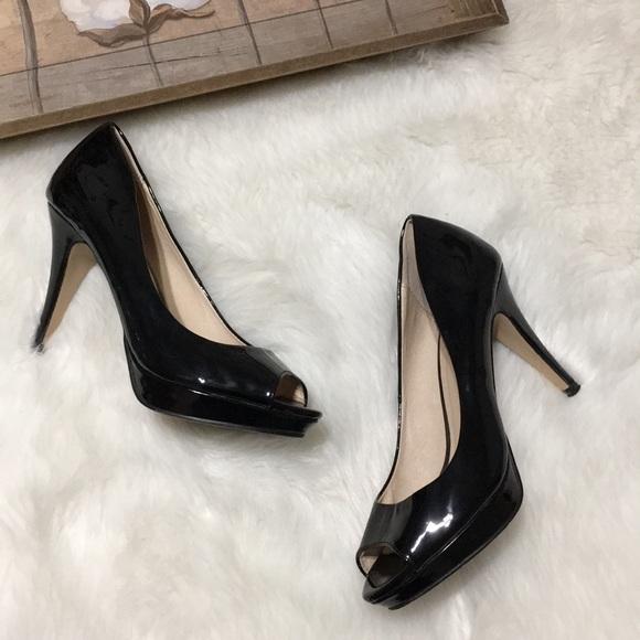 a47beb2d8f98 Aldo Shoes - Aldo Black Peep Toe Patent Leather Heels Sz 7.5